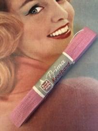 Band | Roze | Naadband | pakje PRIMA naadband  - 100% katoen (1.5 cm)