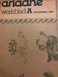 Ariadne: maandblad voor handwerken | 1982 nr. 12 - december - ALLEEN WERKBLAD - MERKLAP