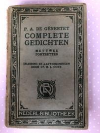 1912 | Complete gedichten - 4e druk met twee portretten P.A. De Génestet inleiding en aanteekeningen door dr. H.L. Oort