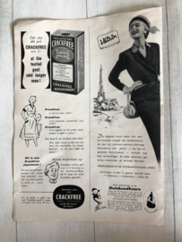 1954 | Advertenties |  Advertentie van Teddy Luiers | Crackfree en Vetrix Bleye