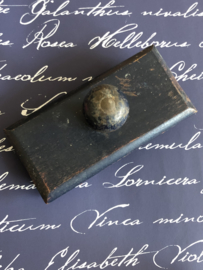 1918 WWI | Antieke blauwe Franse inktblotter - inktdepper - inktroller - vloeipapierhouder