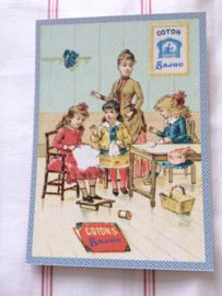 "Briefkaart | Maison Sajou ""naaiclubje"" | #haberdashery #fournituren"