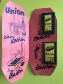 Union Briketts | Naaldenboekje - Needlebook - Nädelhefte  No. 6 en No. 3/9 | 1945
