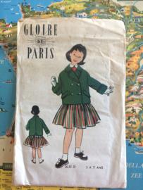 1940 | Gloire de Paris | Vintage naaipatroon kinderjasje en rokje | 1-7 jaar | jaren '40-'50