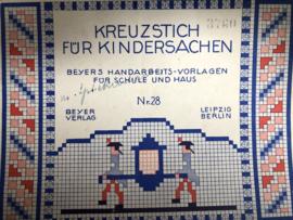 1910-1920 | Boeken | Kruissteken | Kreuzstich für Kindersachen: Beyers handarbeidsvorlagen für Schule und Haus nr. 28 - 3760