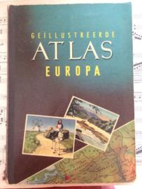 Europa | Verzamelalbum | Geïllustreerde ATLAS Europa | Planta Margarine | 1954