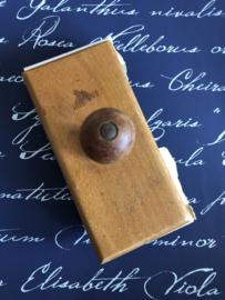 1925 Antieke houten Franse inktblotter - inktdepper - inktroller - vloeipapierhouder