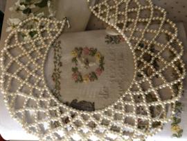Sieraden | Ketting | Kraag ketting parels (kunst) - 15 cm H x 6 cm B