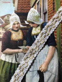 Band | Goud & wit | Vintage prachtig sierband met goudaccenten 'Golven' - 1 cm - 10 mm