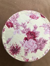 Naaidozen | Kartonnen rond naaidoosje met romantisch bloemmotief