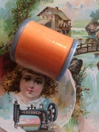 Mölnlycke Spijn Syntet Göteborg | Oranje 9284 - 110 meter | 120 Yard Yarn 100% polyester naaigaren klosje 2 x 3 cm | Vintage