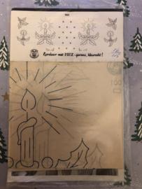 Borduren | Telpatronen | Kerstmotieven