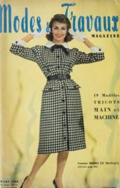 1960 | Modes & Travaux Magazine - Mars 1960 42e Année - N° 711 | 19 Modéles Tricots Main et Machine - zonder patronenblad