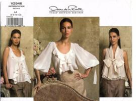 Oscar de La Renta | Blousen, blousjes | VOGUE American Designer Oscar de La Renta Blouse |  V2946 6-12