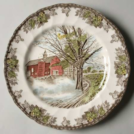 "Origineel decoratief bord ""Herfst landschap"" van Johnson Brothers 