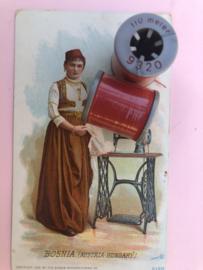 9320 - Garen | Mölnlycke Sytrad Göteborg | Rood 9320 110 m. 120 Yard Yarn 100% polyester naaigaren klosje 2 x 3 cm | Vintage