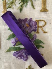 Band | Paars | Biasband | zijdeglans - 100% viscose - DERCO - vintage (1 cm)