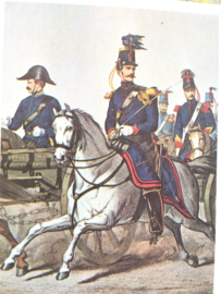 Verzamelkaart leger uniformen nr. 26 | België | Rijdende artillerie | 1855 1789