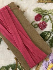 Band | Roze | Biaisband | Vintage Fuchsia band - 100% katoen | merkloos - kleurecht - restanten (1 cm)