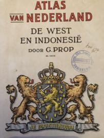 Boeken | Nederland | Nederland, De West en Indonesië | Atlas voor de lagere school 1956 - verzamelobject