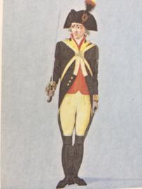 Verzamelkaart leger uniformen nr. 25 | België | Vrijwillige dragonder | Brugge 1789