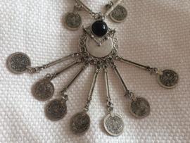 Ottomaans Turkse ketting met muntjes - zilverkleurig