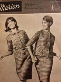 1965 | Marion naaipatronen maandblad | nr. 208 oktober 1965 - met radarblad - mantelpakjes, positiejurk, poppenspecial