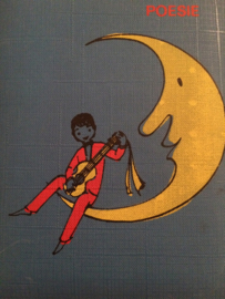 1960 | RETRO poësie album met maantje en mannetje met gitaar | jaren '60