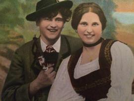 "Duitsland | Ansichtkaarten | Wenskaarten | Briefkaarten ""Duits liefdespaartje"" | ca. 1890-1900"
