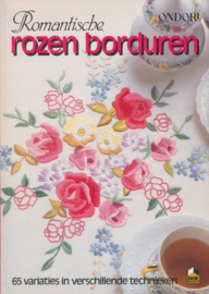 Ondori | Romantische rozen borduren | 65 variaties in verschillende technieken