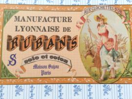 "Briefkaart | Maison Sajou ""lintjes fabriek Lyon"" | #Rubans #fournituren #haberdashery"