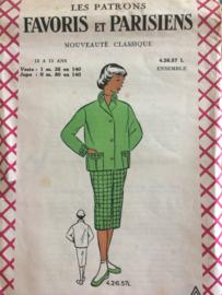 1940 | Favoris en Parisiens | Vintage naaipatroon damesjasje en driekwart broek | jaren '40-'50