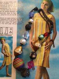 Kralenketting | kleurenmix - lengte 24 cm. | jaren '90 - '00