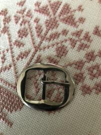Gespen | Ovaal | Zilver | Metalen gladde ceintuur gesp (3.5)  - 60s-70s