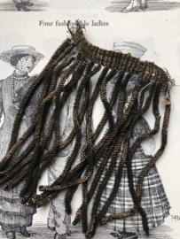Band | Goud | Antieke franse charleston jurk kwastjes (8 cm) 10 en 4 cm