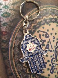"Sleutelhanger Souvenir Tunis ""Allah"" - 6 cm."
