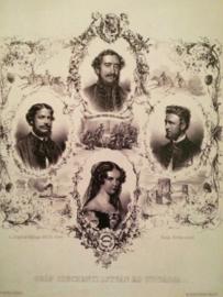 Koningshuis Elizabeth van Oostenrijk Sisi- nieuwe zwart-wit glans briefkaart Kunst