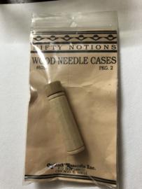 Naaldenkoker | Houten effen naaldenkoker voor Quilt naalden | Nifty Notions:  'Wooden Needle case' - Chicago nr. 3