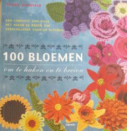 Breien & Haken | Boeken | 100 bloemen om te haken en breien: een complete gids voor het haken en breien van verschillende soorten bloemen - Lesly Stanfield | Librero