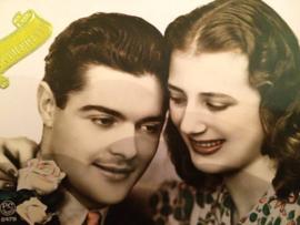 1930 - Briefkaart verliefd paartje
