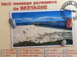 Frankrijk | Briefkaart met strand | Petit Message paresseux de Bretagne