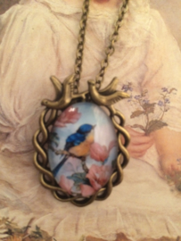 "Ketting brons  ""Blue Birds"""
