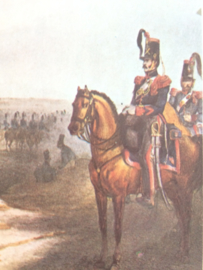Verzamelkaart leger uniformen nr. 27 | België | Rijdende artillerie | 1833