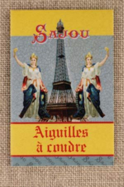 Maison Sajou | naalden | 20 sewing needles - sizes 3, 5, 7 & 9 - Eiffel Tower booklet
