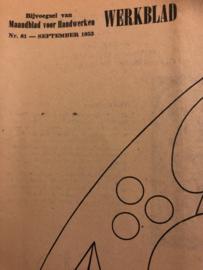 Ariadne: maandblad voor handwerken | 1953 nr. 81 maart  - ALLEEN WERKBLAD - MATELASSÉWERK