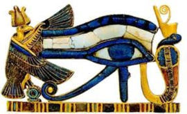 Horus - Her | God van de lucht, zon, bescherming, genezing en koningschap. Horus wordt vaak afgebeeld met de kop van een valk.