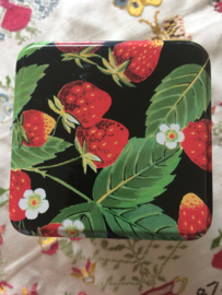 "Vrolijk theeblikje ""aardbeien"" in de zomer"