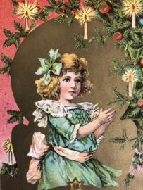 1910 | Kerstmis | A Merry Christmas 'Meisje bij kaarslicht'