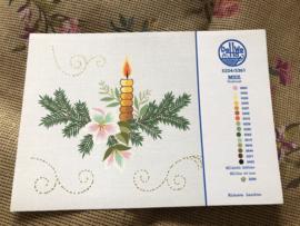 MEZ | DellWea | KERST | Sticktwist 5334/5361 - kleurenkaart Kersttafereel Kerstakjes en kaarsje