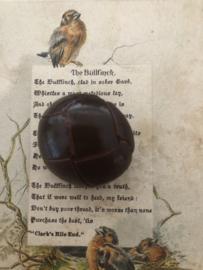 KNOPEN | Bruin | 30 mm -  Originele Football of knot button (leerknoop) -  lederen/leren knoop met lederen oogje, 100%  leer.